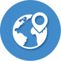 Canada and US hosting location icon image